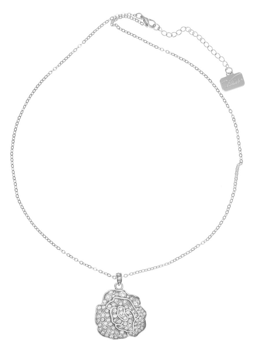 Кулон Jenavi Лино, цвет: серебряный, белый. v6273900v6273900Кулон Jenavi Лино выполнен в виде розы из гипоаллергенного ювелирного сплава с покрытием из черненого серебра, а также оформлен кристаллами Swarovski. Кулон дополнен цепочкой с классическим плетением, которая застегивается на замок-карабин. Длина изделия регулируется за счет дополнительных звеньев. Кулон Jenavi Лино поможет дополнить любой образ и привнести в него завершающий штрих.