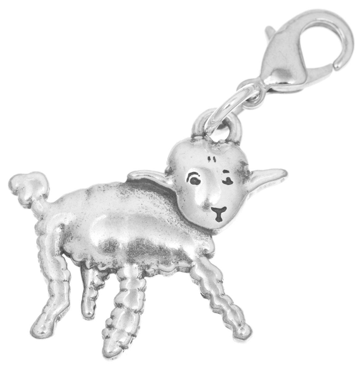 Брелок Jenavi Барашек, цвет: серебряный. r6493b90r6493b90Изящный брелок Jenavi Барашек выполнен в виде овечки из ювелирного сплава с покрытием из черненого серебра. Изделие дополнено надежным карабином для подвешивания. Брелок Jenavi Барашек послужит отличным подарком близкому человеку, родственнику или другу, а также подарит приятные мгновения и окунет вас в лучшие воспоминания.