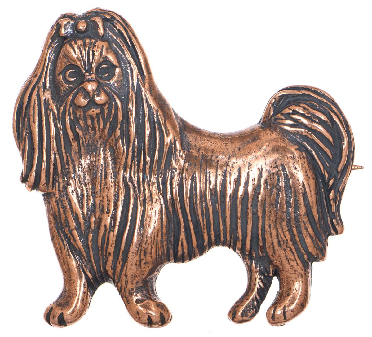 Брошь Jenavi Монтина, цвет: медный. f533u690f533u690Стильная брошь Jenavi Монтина выполнена в виде собаки из гипоаллергенного ювелирного сплава с медным покрытием. Изделие застегивается на классическую английскую булавку. Брошь Jenavi Монтина поможет дополнить любой образ и привнести в него завершающий яркий штрих.