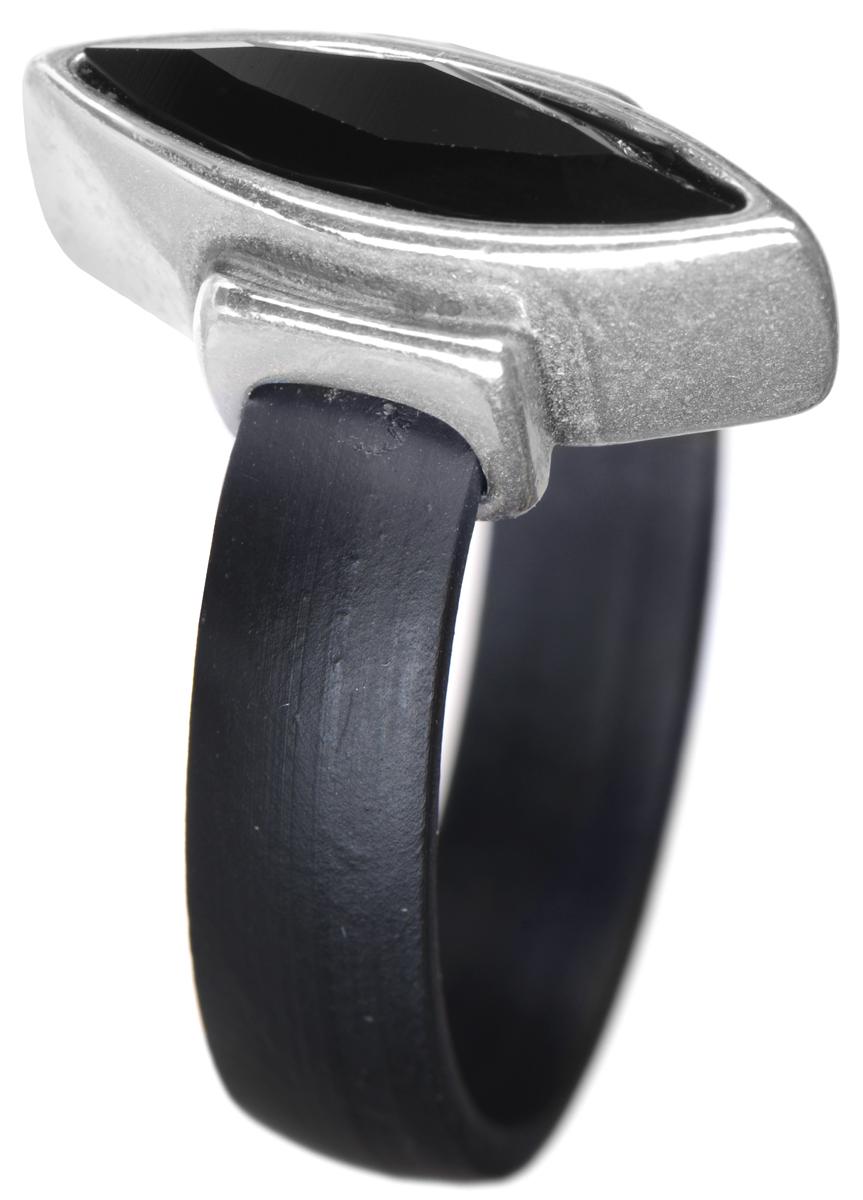 Кольцо Jenavi Омфал, цвет: серебряный, черный. e8893060. Размер 19e8893060Кольцо современного дизайна Jenavi Омфал изготовлено из гипоаллергенного ювелирного сплава и оформлено покрытием из черненого серебра. Шинка кольца выполнена из эластичного материала. Декоративный элемент ромбовидной формы дополнен граненым кристаллом Swarovski. Стильное кольцо придаст вашему образу изюминку и подчеркнет индивидуальность.