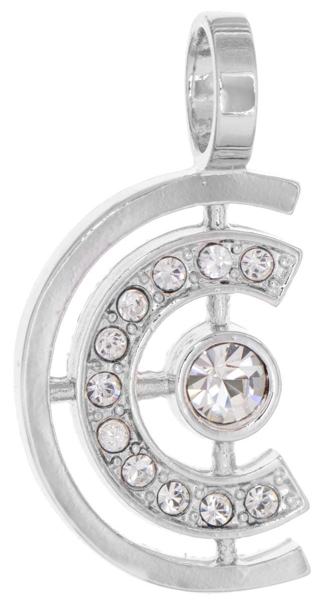 Подвеска Jenavi Эстелио, цвет: серебряный, белый. f497f300f497f300Оригинальная подвеска Jenavi Эстелио выполнена из гипоаллергенного ювелирного сплава, оформлена покрытием из серебра и родия. Изделие дополнено кристаллами Swarovski. Подвеска имеет отверстие, которое позволит подобрать шнур или цепочку любого диаметра. Подвеска Jenavi Эстелио поможет дополнить любой образ и привнести в него завершающий яркий штрих.