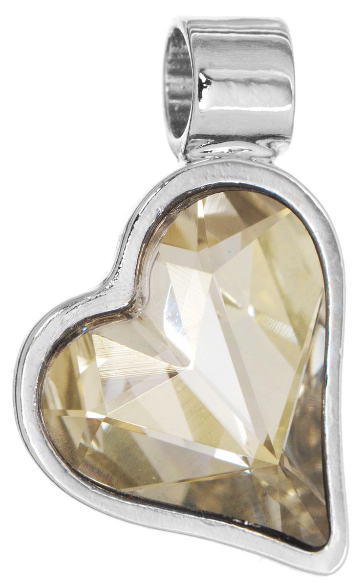 Подвеска Jenavi Зилба, цвет: серебряный, серый. k256f366k256f366Оригинальная подвеска Jenavi Зилба выполнена из гипоаллергенного ювелирного сплава, оформлена покрытием из серебра и родия. Подвеска в форме сердца дополнена граненым кристаллом Swarovski. Изделие имеет отверстие, которое позволит использовать шнур или цепочку любого диаметра. Подвеска Jenavi Зилба поможет дополнить любой образ и привнести в него завершающий яркий штрих.