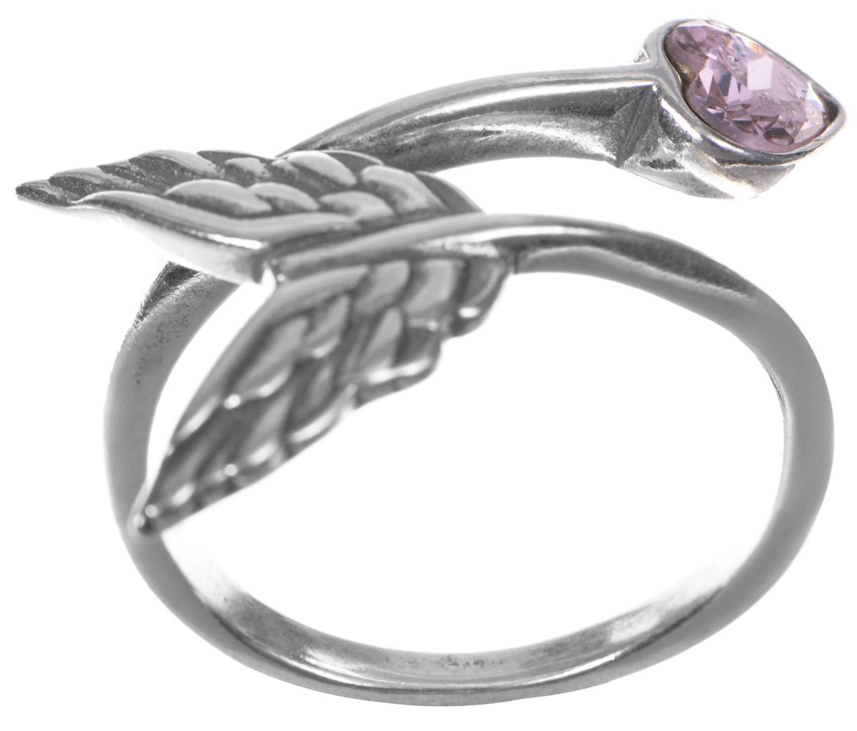 Кольцо Jenavi Яратау, цвет: серебряный, розовый. e7553010e7553010Кольцо современного дизайна Jenavi Яратау выполнено в виде стрелы купидона, изготовлено из гипоаллергенного ювелирного сплава с покрытием из серебра с чернением. Декоративный элемент выполнен в виде сердца и оформлен кристаллом Swarovski. Оригинальная конструкция кольца делает его размер универсальным. Стильное кольцо придаст вашему образу изюминку и подчеркнет индивидуальность.