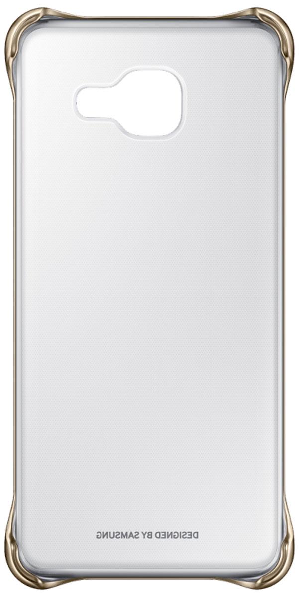 Samsung EF-QA310C Clear Cover чехол для Galaxy A3 (2016), GoldEF-QA310CFEGRUЧехол Samsung Clear Cover подходит для модели смартфона Samsung Galaxy A3 (SM-A310F). Оригинальный аксессуар плотно прилегает к корпусу устройства и защищает от механических повреждений и пыли. Прозрачная поверхность чехла с цветной окантовкой сохраняет оригинальный внешний вид Galaxy A3 (SM-A310F). Чехол сделан из прочного поликарбоната, легко надевается и снимается. При использовании чехла в паре со смартфоном все функциональные порты и клавиши остаются доступными.