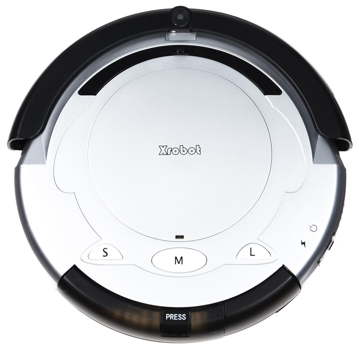 Xrobot A1, Silver Black робот-пылесосA1Пылесос Xrobot A1 представляет собой интеллектуальный, высокотехнологичный, полностью автоматический прибор, который в основном применяется в домашних условиях, в отелях и небольших офисах для чистки различных ковров с коротким ворсом, деревянных полов, керамической плитки и т. д. Интеллектуальная функция: автоматическая уборка комнат, отсутствие ручного контроля во время всего процесса чистки. Автоматическая зарядка: когда батарея разряжается, робот-пылесос автоматически ищет базу для зарядки и осуществляет зарядку. Автоматическая чистка: после установки этой функции робот-пылесос автоматически продолжит работу после полной зарядки. Функция защиты от падения: в нормальных условиях работы предотвращает падение робота-пылесоса со стола или лестницы Функция отложенного старта чистки позволяет выполнить зарядку в течение 4-5 часов и начать работу в заданное время. Ограничитель перемещения позволяет...