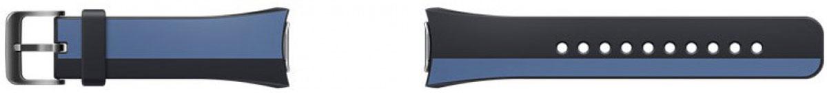 Samsung Gear S2 Mendini collection, Black Blue ремешок для смарт-часовET-SRR72MLEGRUСменные ремешки для смарт-часов Samsung Gear S2 выделят из толпы и подчеркнут ваш неповторимый стиль. Ремешки из Mendini collection отличаются оригинальным внешним видом. Дизайн разработан знаменитым итальянским мастером Алессандро Мендини. Выберите свой стиль - классический или современный и носите часы с комфортом. Поменять ремешок можно одним движением - достаточно зажать кнопки для снятия и потянуть их в стороны. Мягкий материал - эластомер - приятен для кожи, не вызывает аллергии. Ремешок плотно прилегает к руке, не соскальзывает, для надежного крепления предусмотрена стальная пряжка.