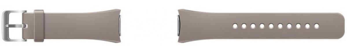 Samsung Gear S2, Light Grey ремешок для смарт-часовET-SUR72MUEGRUДля ценителей классического стиля Samsung разработал спокойный серый и динамичный красный сменные ремешки. Теперь вы можете подчеркнуть оттенок вашего настроения или подобрать аксессуар к костюму или одежде. Ремешок легко снимается и надевается – достаточно слегка нажать на кнопки для снятия сзади корпуса и потянуть в стороны. Ремешок выполнен из приятного для кожи эластичного материала, застегивается при помощи стальной пряжки. Размер M