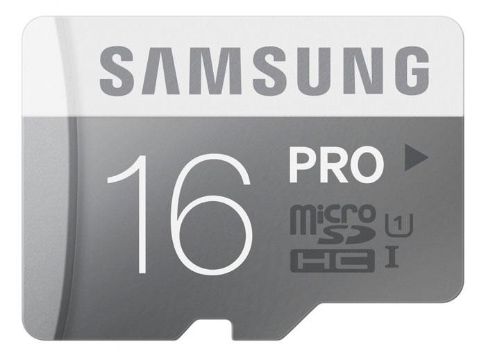 Samsung microSDHC Pro 16GB карта памяти + SD адаптер