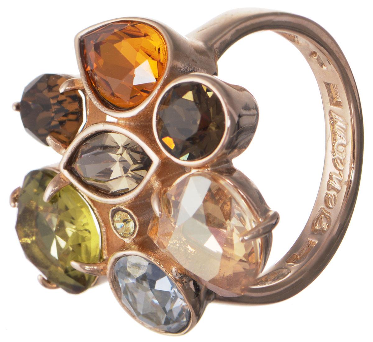 Кольцо Jenavi Гламур, цвет: золотой, мультиколор. h195p070. Размер 21h195p070Кольцо современного дизайна Jenavi Гламур изготовлено из гипоаллергенного ювелирного сплава с покрытием из золота. Дополняют кольцо граненые кристаллы Swarovski разнообразные по своим формам. Стильное кольцо придаст вашему образу изюминку и подчеркнет индивидуальность.