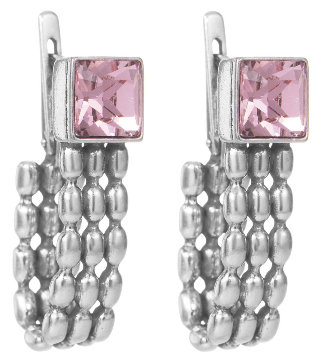 Серьги Jenavi Авенсис, цвет: серебро, розовый. h0483110h0483110Стильные серьги Jenavi Авенсис выполнены из ювелирного сплава с антиаллергическим гальваническим покрытием из черненого серебра. Изделие дополнено кристаллами Swarovski квадратной формы. Серьги застегиваются на удобный английский замок, который эстетично включается в дизайн украшения. Оригинальные серьги Jenavi Авенсис помогут дополнить любой образ и привнести в него завершающий яркий штрих.