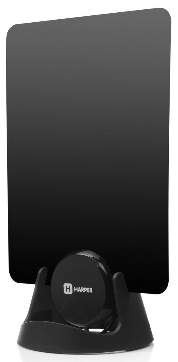 Harper ADVB-1209 ТВ-антеннаH00000512Плоская телевизионная антенна Harper ADVB-1209 принимает цифровые Full HD и аналоговые телевизионные сигналы. Подключается напрямую к телевизору, после подключения готова к работе, не требует настройки. Конструкция из высокотехнологичных материалов. Чтобы обеспечить простую установку в любом месте, в комплект входят 2 наклейки и основание антенны. В комплекте предусмотрен 3 м коаксиальный кабель для удобного размещения антенны. Частотный диапазон: 470-862 МГц Диапазон: UHF Усиление: 20 дБ Сопротивление: 75 Ом Коэффициент шума: 3 дБ Длина кабеля: 3 м