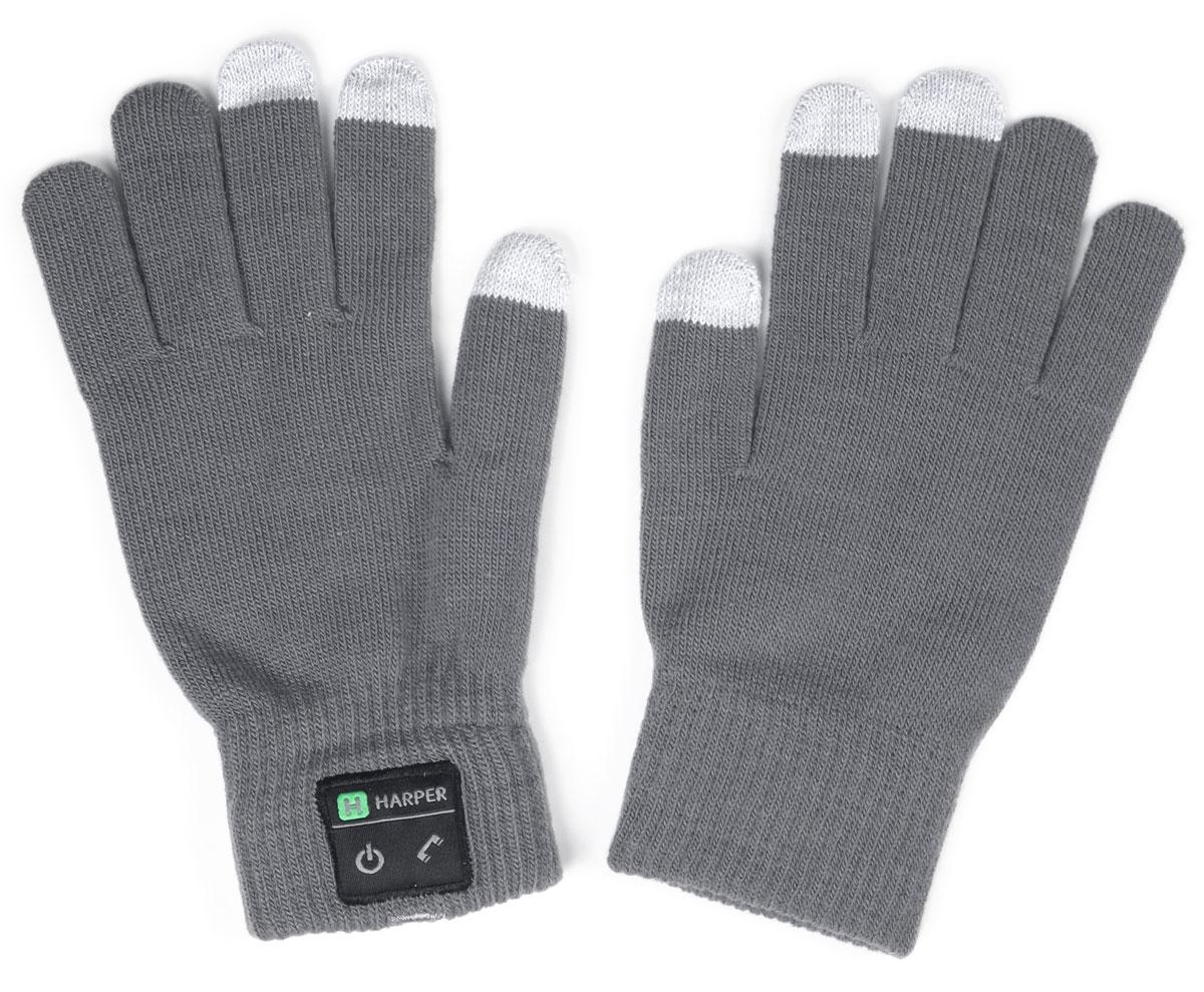 Harper HB-502, Gray перчатки с Bluetooth-гарнитуройH00000919Перчатки Harper HB-502 с Bluetooth-гарнитурой. В основе используется качественный материал, состоящий из акрила - 84%, спандекса - 10%, полиэстра - 6%. Аккуратная пряжа, шерсть не раздражает руки, без посторонних запахов. Неплохо согревают в зимнее время. В перчатках можно управлять устройством, не снимая их. Динамик расположен в большом пальце левой перчатки, а микрофон в мизинце. Модуль с двумя механическими кнопками (включение и ответ на вызов) находится на боковой части. Для того чтобы не пропустить входящий вызов, в конструкции корпуса предусмотрена вибрация. Размер: M