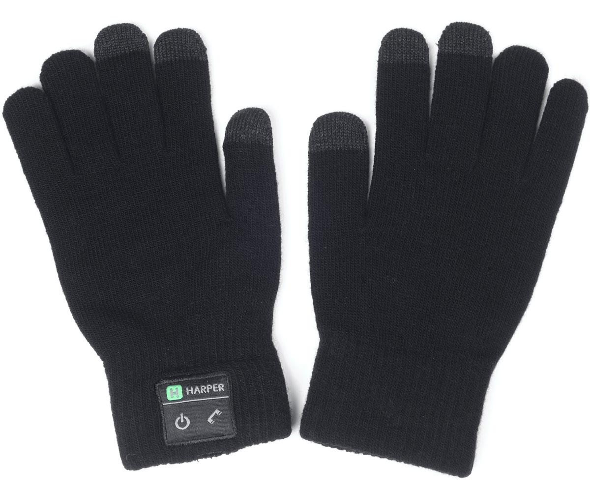 Harper HB-503, Black перчатки с Bluetooth-гарнитуройH00000921Перчатки Harper HB-503 с Bluetooth-гарнитурой. В основе используется качественный материал, состоящий из акрила - 84%, спандекса - 10%, полиэстра - 6%. Аккуратная пряжа, шерсть не раздражает руки, без посторонних запахов. Неплохо согревают в зимнее время. В перчатках можно управлять устройством, не снимая их. Динамик расположен в большом пальце левой перчатки, а микрофон в мизинце. Модуль с двумя механическими кнопками (включение и ответ на вызов) находится на боковой части. Для того чтобы не пропустить входящий вызов, в конструкции корпуса предусмотрена вибрация. Размер: L