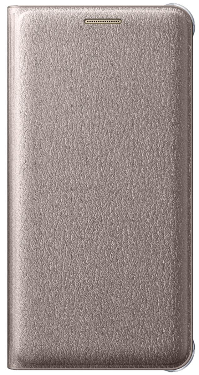 Samsung EF-WA310 Flip Wallet чехол для Galaxy A3 (2016), GoldEF-WA310PFEGRUЧехол-книжка Samsung Flip Wallet подходит для модели смартфона Samsung Galaxy A3 (SM-A310F). В отличие от простых накладок он защищает не только боковые грани и заднюю стенку смартфона, но и экран от пыли, царапин и потертостей. Он выполнен из полиуретана и плотно прилегает к корпусу девайса. Изящный чехол в минималистичном стиле станет отличным подарком для практичных людей. В специальном кармашке внутри чехла можно хранить визитки, кредитные карты или денежные купюры. Тонкие стенки аксессуара практически не увеличивают габаритов Samsung Galaxy A3. При пользовании смартфона доступы ко всем портам и камере остаются открытыми.
