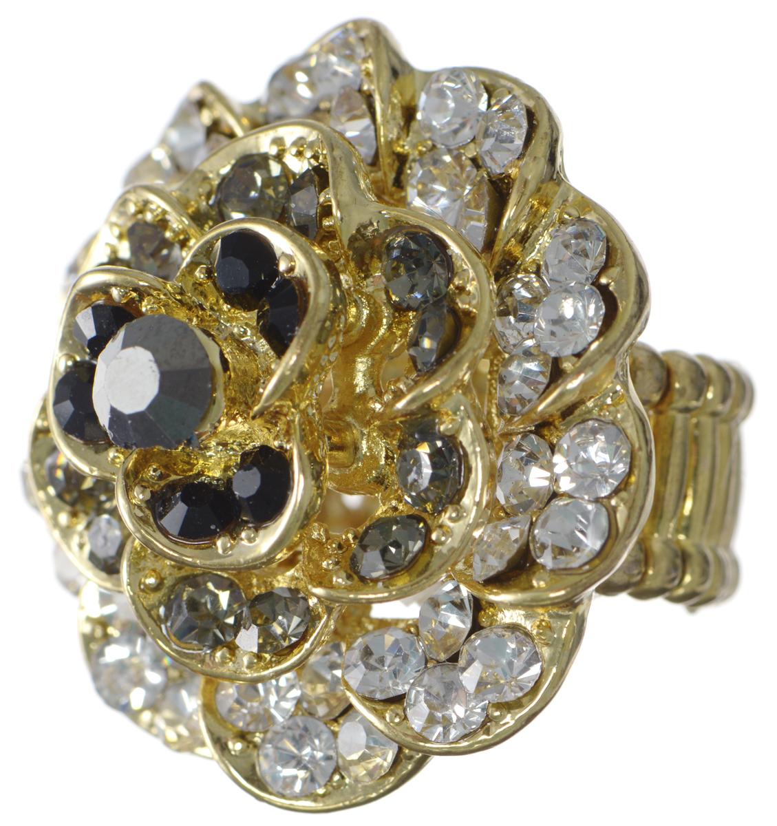 Кольцо Taya, цвет: золотой, черный, белый. T-B-7319T-B-7319-RING-BK.WHITEКольцо современного дизайна Taya выполнено из металлического сплава и дополнено оригинальным декоративным элементом в виде розы. Благодаря эластичной основе изделие легко надевать. Кольцо Taya поможет дополнить любой образ и привнести в него завершающий яркий штрих.
