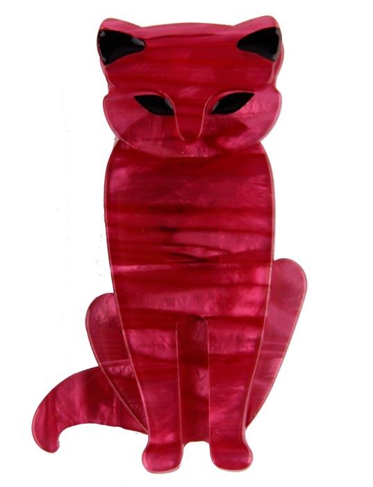 Брошь Розовый кот. Бижутерный сплав, пластик, эмаль. Китай, конец ХХ векаКК5_Брошь Розовый кот. Бижутерный сплав, пластик, эмаль. Китай, конец XX века. Размеры 6 х 3,5 см. Сохранность хорошая. Очаровательная брошь, выполненная в виде сидящего кота. Аксессуар украшен эмалью черного цвета. Эта забавная брошь станет оригинальным украшением для ярких индивидуальностей. Отличный повседневный аксессуар.