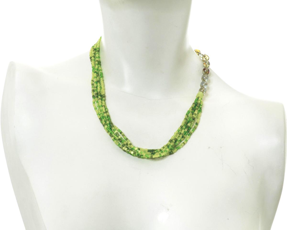 Бусы Bohemia Style, цвет: зеленый. 377 1906 920 001