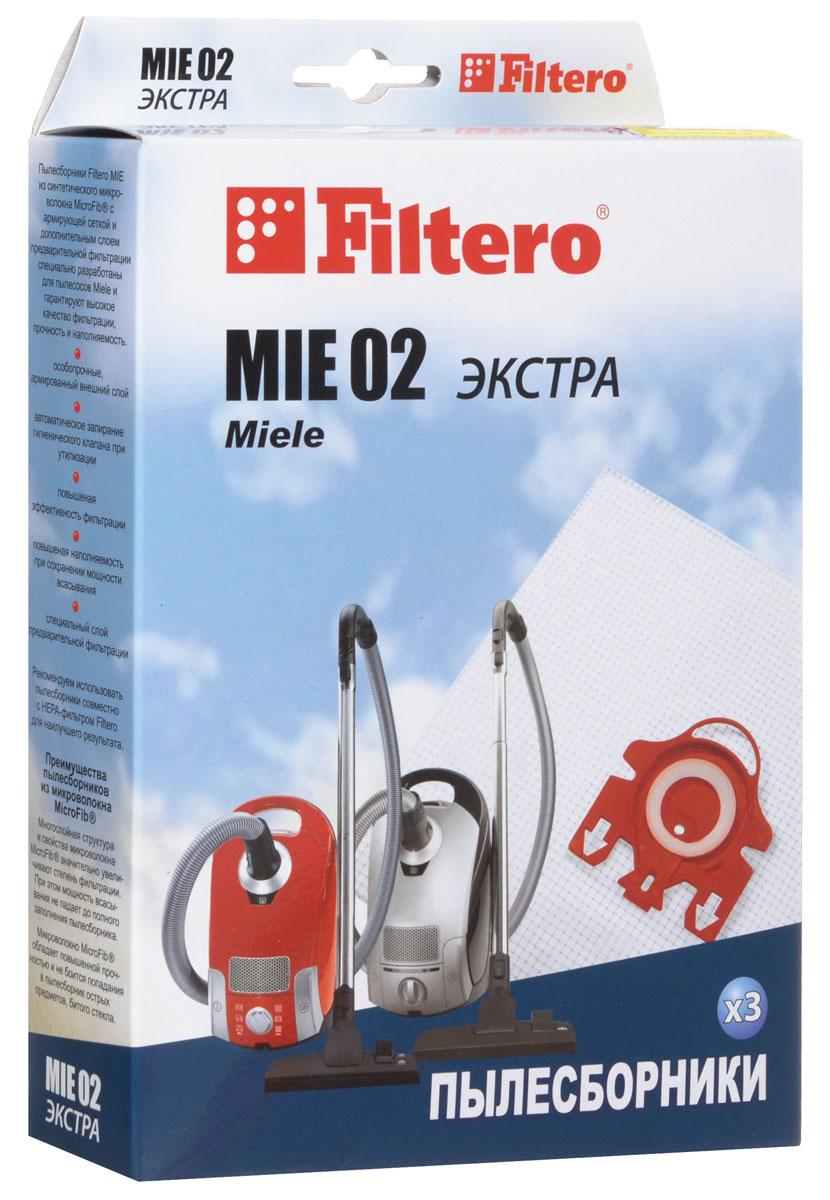 Filtero MIE 02 Экстра пылесборник (3 шт)MIE 02 (3) ЭКСТРАПылесборники Filtero MIE 02 Экстра произведены из синтетического микроволокна MicroFib с армирующей сеткой и дополнительным слоем предварительной фильтрации. Очень прочные, они не боятся острых предметов и влаги, обеспечивают уровень очистки воздуха 99,9%, прочность и наполняемость. При этом мощность всасывания пылесоса сохраняется в течение всего периода службы пылесборника. Пылесборники подходят для следующих моделей пылесосов: MIELE S 241 i - 299 i S 300 i - S 399 i S 500 i - S 599 i S 700 - S 799 S 4200 - S 4999 например: S 4281 Baby Care S 6200 - S 6999 например: S 6220 Cat & Dog