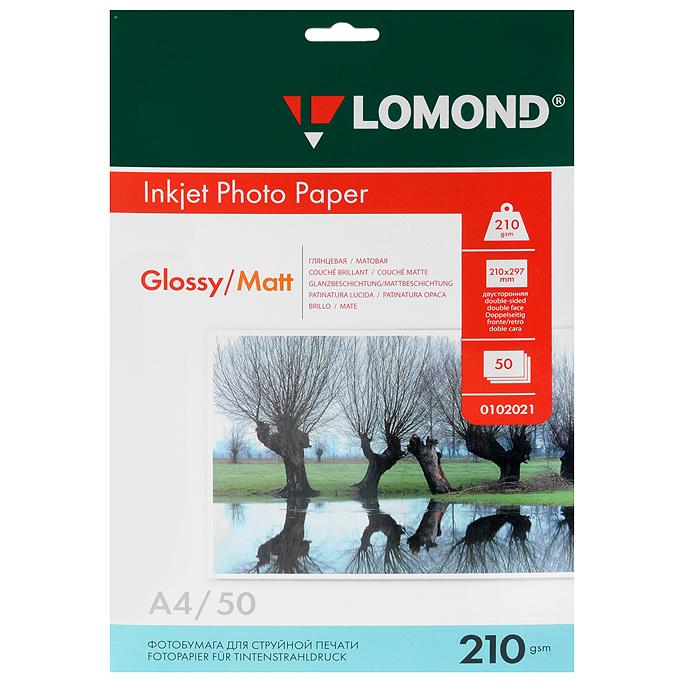 Lomond 210/A4/50л, бумага глянцево/матовая двухсторонняя