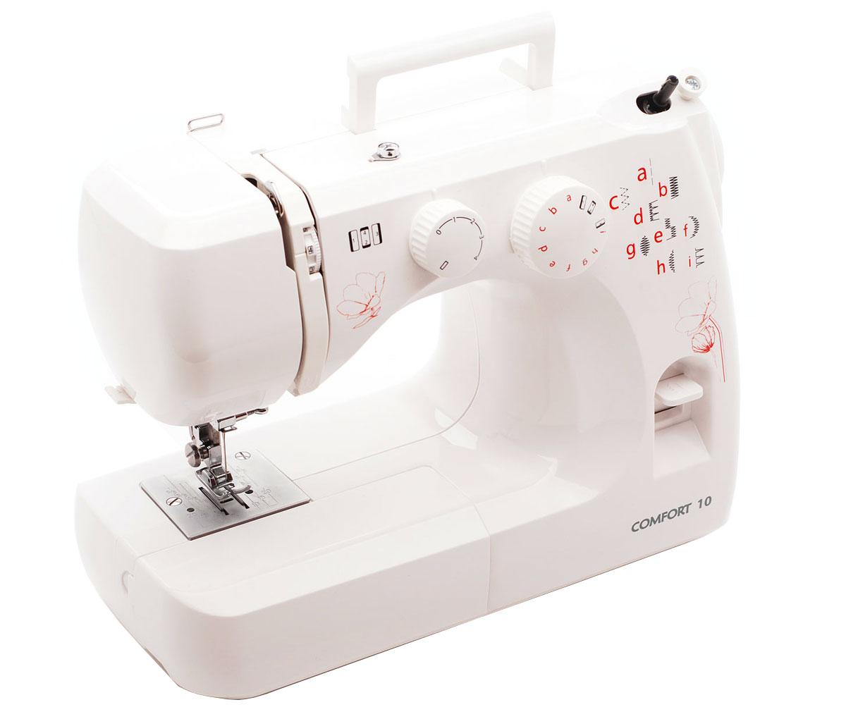 Comfort 10, White швейная машина в пластиковом кейсе
