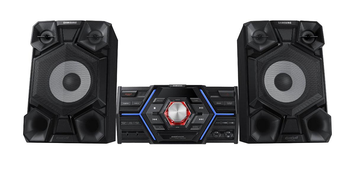 Samsung MX-JS5000 музыкальный центрMX-JS5000/RUSamsung MX-JS5000 - идеальный музыкальный центр для домашних вечеринок. Он обеспечивает превосходно чистое и ясное звучание за счет двух фронтальных колонок на 800 Вт. Аудиосистема Samsung обладает функциями, которые позволяют создать у слушателей ощущение, что они находятся на стадионе во время увлекательного футбольного матча. Функция Caster EQ делает речь комментатора чёткой, а функция Stadium EQ дает возможность различать крики и эмоции болельщиков. Посещайте стадион не выходя из дома! Благодаря простоте подключения системы к вашим MP3 или CD-проигрывателям можно легко конвертировать музыку в MP3 формат. Воспользуйтесь двумя USB-портами для копирования музыки с одного USB-накопителя на другой. Включите запись радиопередач - функция Timer позволит вам записать вашу любимую радиопрограмму. Ваше мобильное устройство может улучшить атмосферу вечеринки. Загрузите бесплатное приложение и управляйте музыкальной атмосферой прямо с экрана...