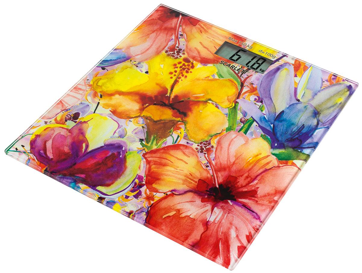 Scarlett SC-BS33E071, Flowers напольные весы