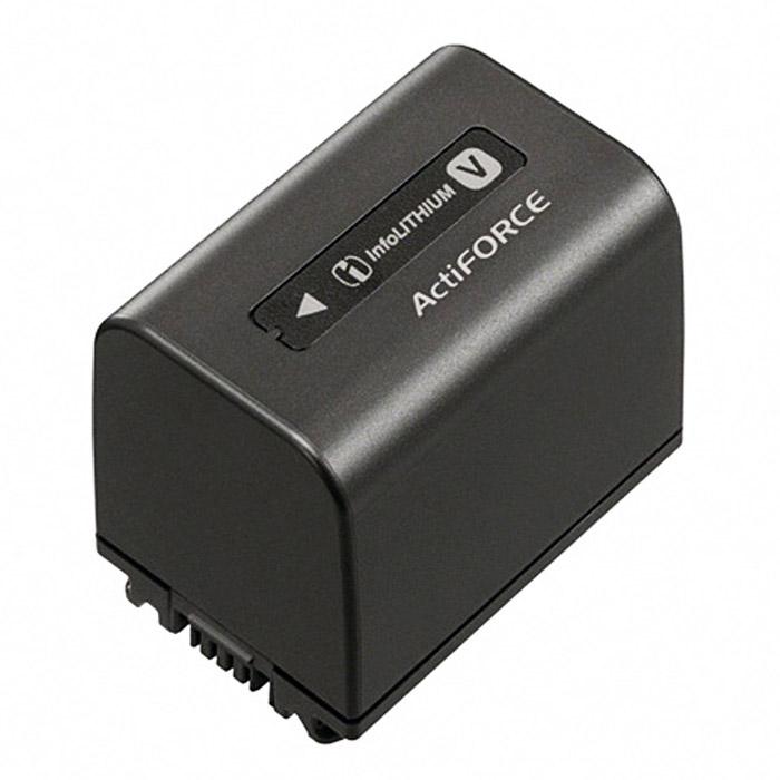 Sony NP-FV70 батареяNP-FV70Набор заряжаемых аккумуляторов InfoLITHIUM Sony NP-FV70 помогает максимально продлить время съемки по сравнению с аккумулятором из комплекта поставки. Увеличенная продолжительность съемки Ускоренная зарядка при помощи дополнительного адаптера AC-VQV10 Емкость на 15% больше, чем у предыдущей модели Технология ActiFORCE обеспечивает увеличенную емкость аккумулятора, ускоренную зарядку и более быстрое и точное определение оставшегося заряда