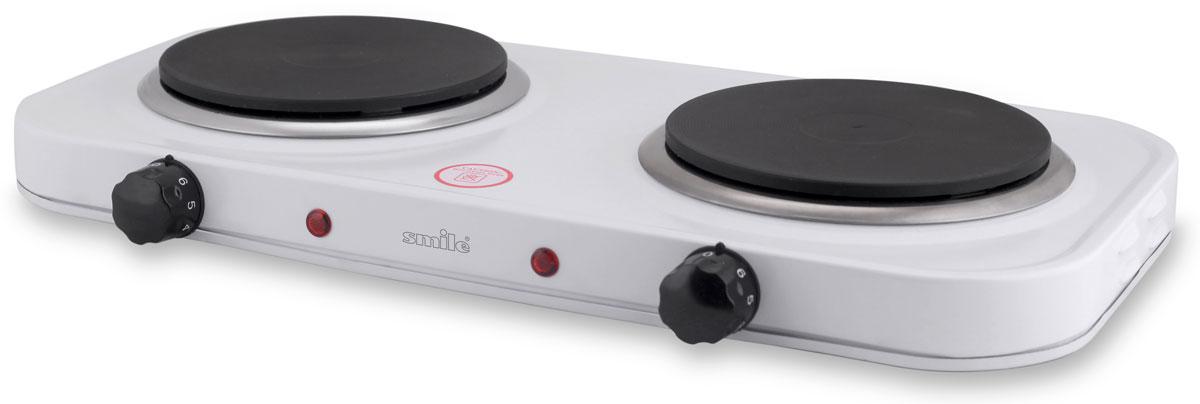 Smile DEP 9014 плитка электрическаяDEP 9014Smile DEP 9014 - компактная электроплитка, заменяющая традиционные громоздкие, газовые плиты. Такая плитка обеспечивает сравнительно быстрый нагрев посуды. Корпус модели изготовлен из металла. Она оснащена плавно регулируемым термостатом, а также световым индикатором включения. Имеет 2 нагревательных диска мощностью по 1000 Вт. Корпус из эмалированной стали 2 плавно регулируемых термостата 2 контрольные лампочки Большая устойчивость Диаметр нагревательных дисков: 155 мм