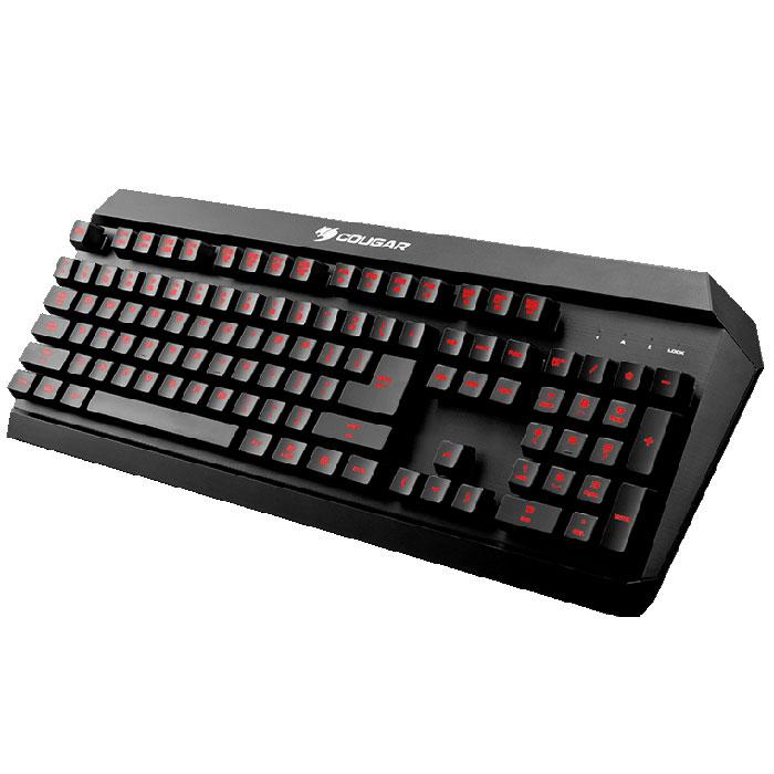 Cougar 450K, Black игровая клавиатураCU450KCougar 450K – влагостойкая игровая клавиатура, которой не страшен пролитый в разгар битвы чай. Она разработана специально для геймеров, которые любят играть и кушать одновременно. Гибридный механизм разработан специально для игр, поэтому позволяет получить обратную связь уровня, недоступного даже некоторым механическим клавиатурам. Четкие нажатия с сочным усилием без малейшего горизонтального отклонения, позволяют отдать управление рефлексам и полностью сосредоточиться на происходящем в игре. Технологии Anti-ghosting используется на 26 клавишах, которые наиболее часто используются в сочетаниях с другими. Клавиатура позволяет с помощью клавиши FN получить доступ к управлению воспроизведением медиа файлов, функциям записи макросов на лету, блокировки клавиши Windows и настройке частоты опроса. Полная подсветка клавиш Можно настроить один из трех цветов подстветки клавиатуры: красный, желтый или зеленый. ...