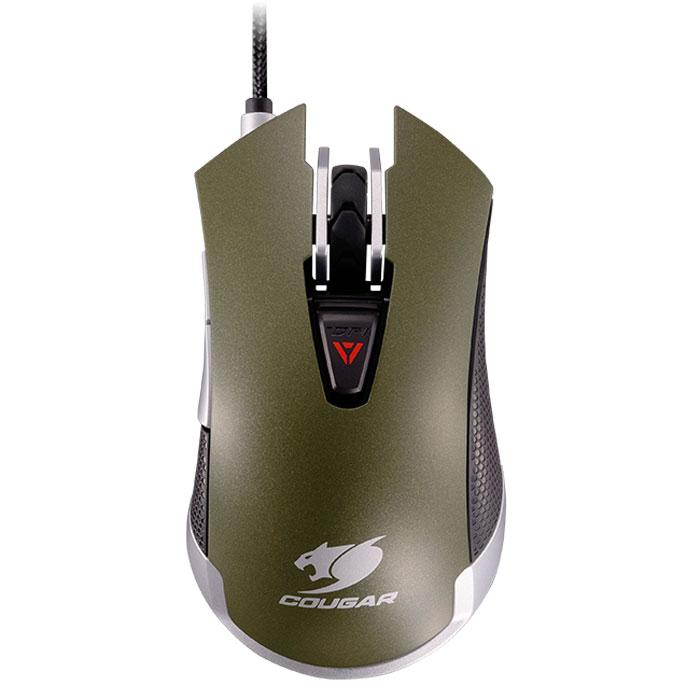 Cougar 530M, Army Green игровая мышьCU530M-GМышь Cougar 530M станет отличным выбором для желающих получить не только мощное, но и стильное игровое оружие. Она создана для достижения максимального контроля над игровым процессом и реализации всех возможностей игрока. Оптический игровой сенсор последнего поколения с регулируемым разрешением 5000 dpi точно передает каждое малейшее движение мыши. Переключатели Omron гарантируют 5 миллионов кликов для самой продолжительной игровой жизни. Удобно расположенная триггер-кнопка позволяет быстро настроить дополнительные функции в соответствии с желаниями пользователя. Шесть кнопок, включая триггер-кнопку, пользователь может запрограммировать по своему желанию, настроив 21 функцию. Первоклассное бесшумное прорезиненное колесо прокрутки, выделяющееся среди других непревзойденной точностью и четкой обратной связью. Корпус Cougar 530M выполнен из высококачественного матового пластика. Мышь держит игровые победы под контролем - корпус устройства...