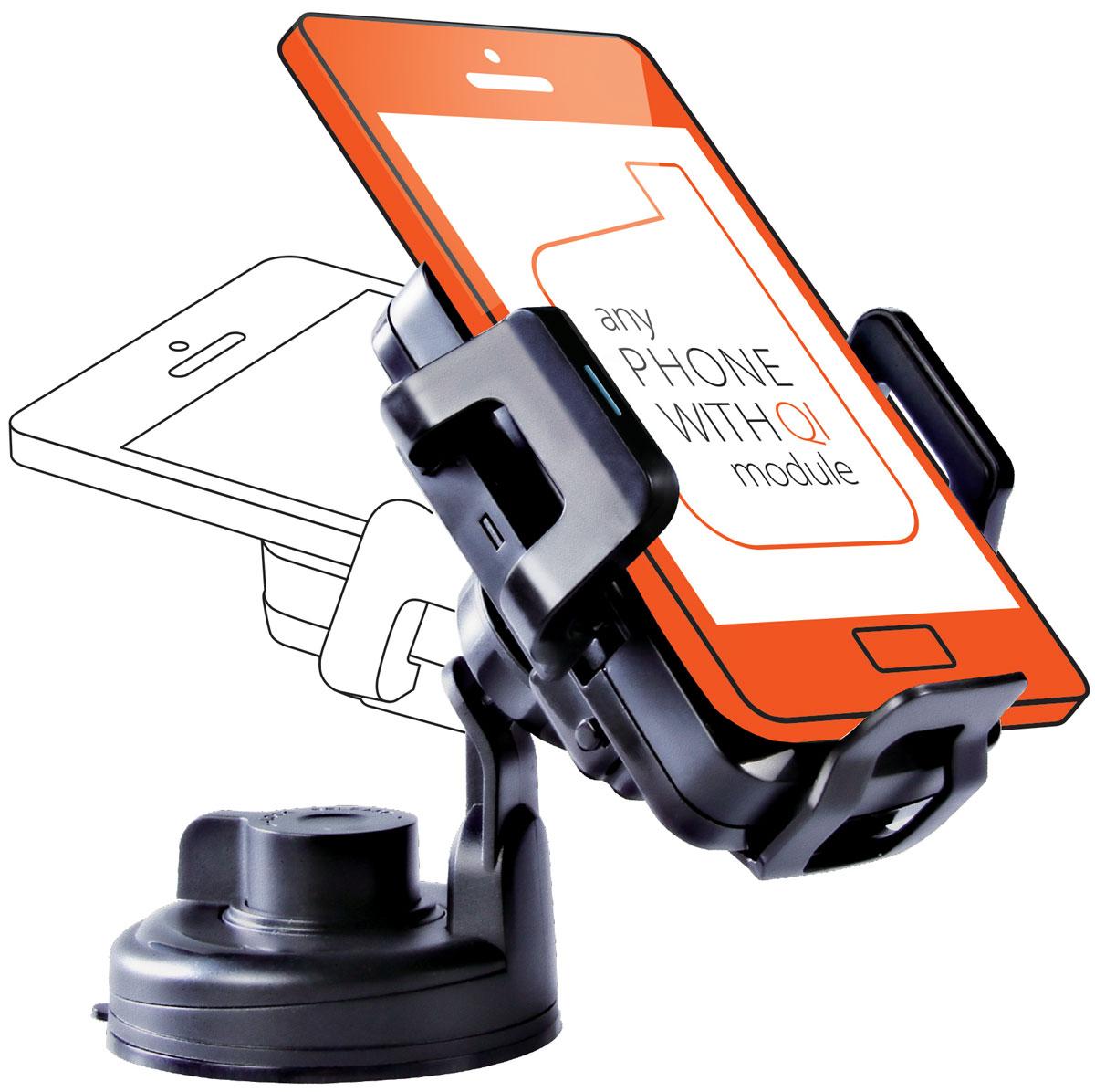UPVEL UQ-TA01 Stingray, Black автомобильное беспроводное зарядное устройство стандарта QiUQ-TA01 STINGRAYЗабудьте о вечно занятых руках, разряженных аккумуляторах и о нервных поисках закатившегося под сиденье смартфона! Беспроводное зарядное устройство UPVEL UQ-TA01 специально разработано для использования в салоне автомобиля. Регулируемые крепления позволяют разместить смартфон точно в центре для максимальной эффективности заряда и не дадут ему упасть. Различные варианты крепления зарядного устройства в салоне и поворотная зарядная панель помогут расположить смартфон максимально удобно и надёжно. Монтируется на присоске либо на вентиляционной решетке Подходит для большинства мобильных устройств с диагональю до 5 дюймов Совместим со всеми модулями беспроводной зарядки стандарта Qi Эффективность: 500 мАч Расстояние для зарядки: до 5-7 мм