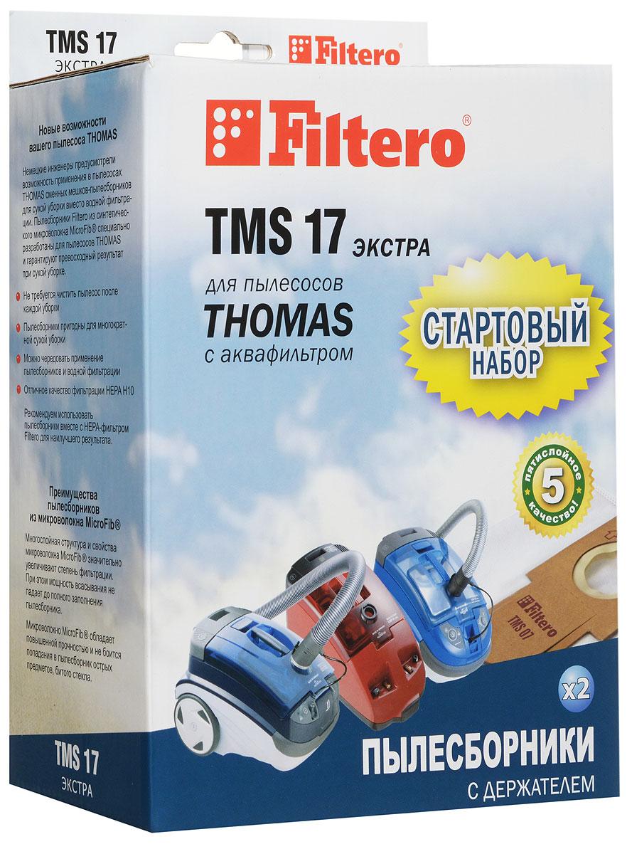 Filtero TMS 17 мешок-пылесборник для Тhomas 2 штTMS 17 (2+1) ЭКСТРАМешки-пылесборники Filtero TMS 17 произведены из синтетического микроволокна MicroFib. Очень прочные, они не боятся острых предметов и влаги, собирают больше пыли (до 50%) и обеспечивают уровень очистки воздуха 99,9%, что значительно выше, чем у бумажных пылесборников. При этом мощность всасывания пылесоса сохраняется в течение всего периода службы пылесборника. Стартовый набор фильтров Filtero TMS 17 включает в себя два сменных пылесборника Filtero TMS 07 и держатель Filtero. Сохраняя держатель Filtero из набора TMS 17 для его многократного использования в дальнейшем можно приобретать пылесборники Filtero TMS 07, без держателя.