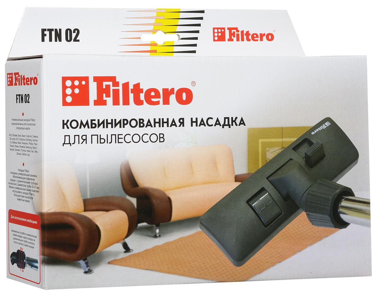 Filtero FTN 02 насадка для пылесосаFTN 02Комбинированная насадка Filtero FTN 02 пол – ковер с шириной рабочей зоны 26 см оснащена универсальным зажимом, который обеспечивает возможность использования насадки с большинством пылесосов известных марок, с диаметром удлинительной трубки 30 - 37 мм. Насадка Filtero FTN 02 с удобным в переключении 2-х позиционным переключателем жесткий пол - ковер позволяет производить уборку любых напольных покрытий.