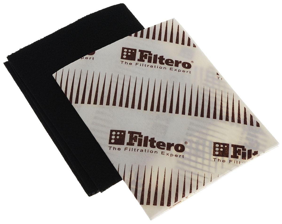 Filtero FTR 04 универсальный комбинированный фильтр для вытяжкиFTR 04Универсальный комбинированный фильтр FTR 04 предназначен для кухонных вытяжек. Угольный фильтр эффективно впитывает запахи и улавливает чад. Жиропоглощающий фильтр поглощает грязь и частицы жира, он предназначен для снижения содержания продуктов неполного сгорания газа в воздухе и предотвращения загрязнения потолков и стен кухни от сажи и копоти, а также для увеличения срока эксплуатации мотора вытяжки. Эксплуатация вытяжки не желательна без этого фильтра. Совместное использование в кухонной вытяжке фильтров увеличивает срок эксплуатации как угольного фильтра так и мотора самой вытяжки. Подлежит замене, согласно рекомендации производителя вытяжек - не реже одного раза за 6 месяцев. Эти фильтры имеет размер 570 х 470 мм, совместимы с любыми кухонными вытяжками, которые конструктивно предусматривают применение таких фильтров. Угольный фильтр функционально может заменить дорогие штатные угольные кассеты воздухоочистителей различных моделей, где это применимо.
