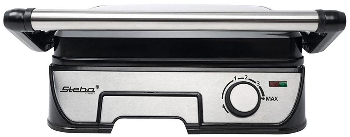 Steba FG 56 грильFG 56Контактный гриль Steba FG 56 с теплоизолированным корпусом с отделкой из нержавеющей стали обеспечивает быстрое приготовления пищи за счет двустороннего обжаривания. Съемные пластины гриля размером 29 х 22 см с антипригарным покрытием можно легко промыть в посудомоечной машине или под струей воды. Плавная регулировка термостата (140°C - 220°C) со световыми индикаторами готовности к работе позволит вам контролировать процесс нагрева и подскажет, когда гриль достиг необходимой температуры. Жир, который образуется при жарке мяса и рыбы стекает по специальным стокам в металлический поддон. Фиксатор крышки и кронштейны для намотки кабеля при хранении служат для удобства использования и транспортировки прибора.