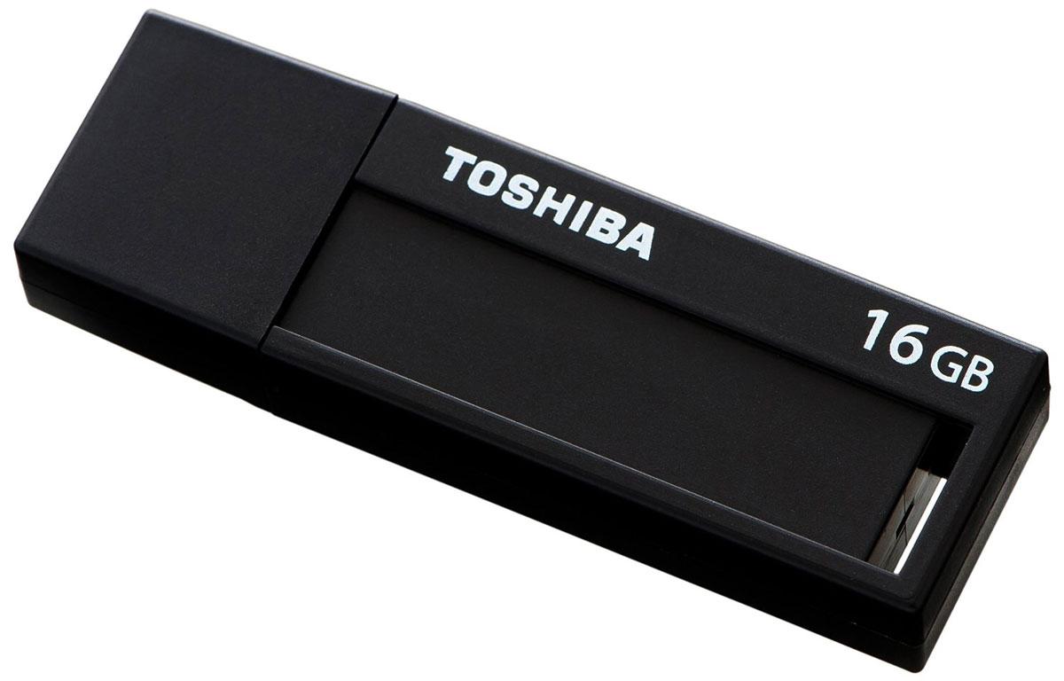 Toshiba Daichi 16Gb, Black USB-накопительTHNV16DAIBLK(6Стандарт USB 3.0 Накопители Toshiba Daichi USB 3.0 подходят во всех USB 3.0 - портов и позволят вам всегда иметь под рукой внушительное количество фильмов, музыки, фотографий и документов. Выдвижной механизм надежно защищает соединительный разъем от повреждений и поломок, а также загрязнений. Модный дизайн USB - накопители Toshiba Daichi предлагают вам сочетание простоты использования с лаконичным дизайном. Хранить информацию и делиться ей намного интереснее с накопителями Toshiba Daichi! Специальное место для заметок размером 9 x 33 мм и этикетки для записей позволит вам делать пометки о хранящейся на флешке информации. Легкий и компактный USB флэш-накопители Toshiba Daichi имеют малый вес и поэтому идеальны для путешествий! Они отлично подходят для портативных устройств, таких как ноутбуки, планшеты или цифровые рамки. Кроме того, этот девайс порадует вас необычайно низким энергопотреблением!