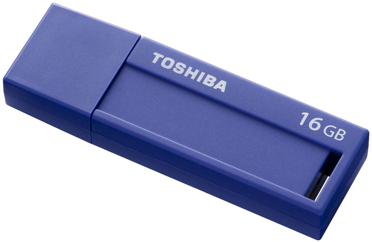 Toshiba Daichi 16Gb, Blue USB-накопительTHNV16DAIBLU(6Стандарт USB 3.0 Накопители Toshiba Daichi USB 3.0 подходят во всех USB 3.0 - портов и позволят вам всегда иметь под рукой внушительное количество фильмов, музыки, фотографий и документов. Выдвижной механизм надежно защищает соединительный разъем от повреждений и поломок, а также загрязнений. Модный дизайн USB - накопители Toshiba Daichi предлагают вам сочетание простоты использования с лаконичным дизайном. Хранить информацию и делиться ей намного интереснее с накопителями Toshiba Daichi! Специальное место для заметок размером 9 x 33 мм и этикетки для записей позволит вам делать пометки о хранящейся на флешке информации. Легкий и компактный USB флэш-накопители Toshiba Daichi имеют малый вес и поэтому идеальны для путешествий! Они отлично подходят для портативных устройств, таких как ноутбуки, планшеты или цифровые рамки. Кроме того, этот девайс порадует вас необычайно низким энергопотреблением!
