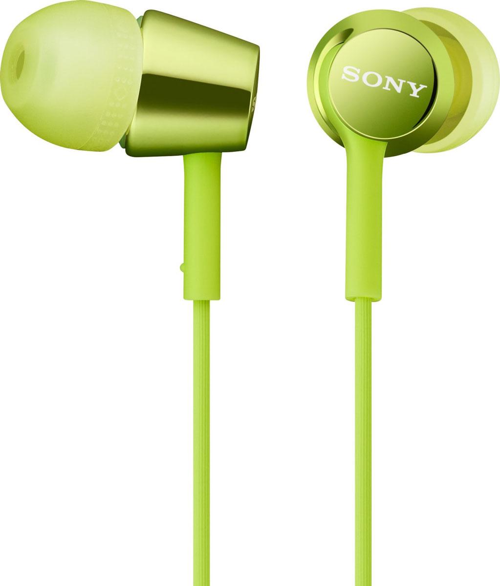 Sony MDR-EX150, Green наушникиMDR-EX150 зелёныйНаушники-вкладыши Sony MDR-EX150 предлагаются в десяти ярких цветовых решениях, что позволит вам подобрать пару наушников под свой индивидуальный стиль. Динамики с неодимовыми магнитами и с диаметром диффузора 9 мм обеспечивают яркое энергичное звучание музыки, а диапазон воспроизводимых частот от 5 Гц до 24 кГц идеально подойдет для популярных стилей музыки.