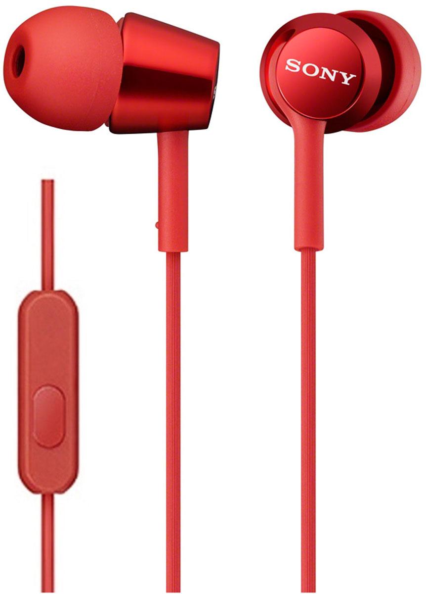 Sony MDR-EX150AP, Red наушникиMDR-EX150AP красныйНаушники-вкладыши Sony MDR-EX150AP созданы для тех, кто вечно находится в движении. Удобный в использовании встроенный в кабель микрофон позволяет запросто отвечать на звонки, не вынимая смартфон из кармана или сумки. Завершив разговор можно легко вернуться к прослушиванию музыки благодаря встроенному в кабель пульту управления.
