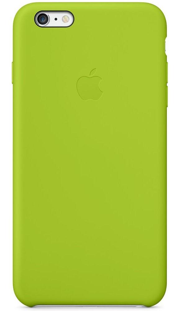 Apple Silicone Case чехол для iPhone 6 Plus, GreenMGXX2ZM/AApple Silicone Case плотно прилегает к кнопкам управления громкостью и режима сна и точно повторяет контуры iPhone 6 Plus/6s Plus, при этом не делая его громоздким. Мягкая подкладка из микроволокна защищает корпус iPhone. А внешняя поверхность силиконового чехла очень приятна на ощупь.