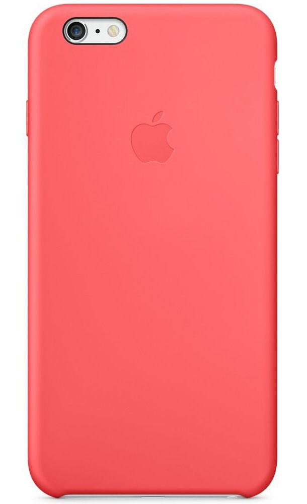 Apple Silicone Case чехол для iPhone 6 Plus, PinkMGXW2ZM/AApple Silicone Case плотно прилегает к кнопкам управления громкостью и режима сна и точно повторяет контуры iPhone 6 Plus/6s Plus, при этом не делая его громоздким. Мягкая подкладка из микроволокна защищает корпус iPhone. А внешняя поверхность силиконового чехла очень приятна на ощупь.
