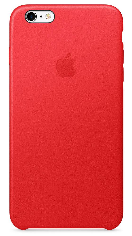 Apple Leather Case чехол для iPhone 6s Plus, RedMKXG2ZM/AApple Leather Case - роскошный чехол, изготовленный из специально обработанной и выделанной кожи европейского производства и спроектированный теми же дизайнерами Apple, которые работали над iPhone. Каждый чехол идеально облегает телефон, поэтому ваш iPhone 6s Plus или iPhone 6 Plus по-прежнему будет выглядеть невероятно тонким. Мягкая внутренняя поверхность чехла, выполненная из микроволокна, защитит корпус вашего iPhone. А его внешняя сторона порадует вас глубоким оттенком: специальная технология окраски позволяет цвету буквально проникать в структуру кожи.