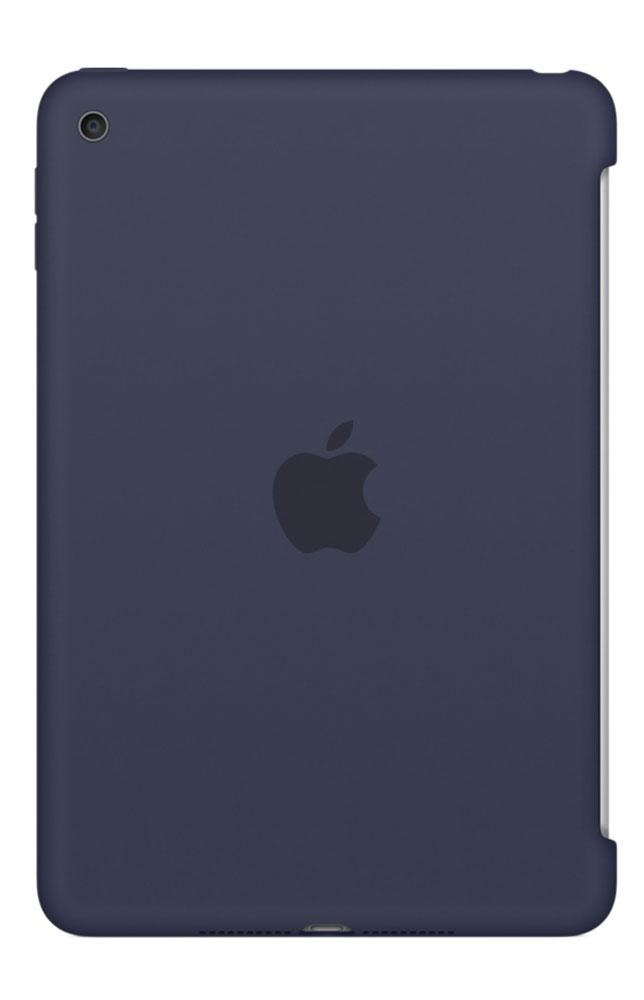Apple Silicone Case чехол для iPad mini 4, Midnight BlueMKLM2ZM/AСиликоновый чехол защищает заднюю поверхность iPad mini 4 и идеально совместим со Smart Cover, чтобы ваше устройство было в безопасности с обеих сторон. Чехол с гладкой силиконовой поверхностью очень приятен на ощупь и надёжно оберегает iPad mini 4, сохраняя его корпус таким же тонким и изящным.
