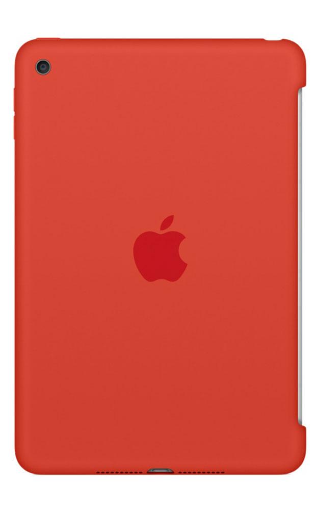 Apple Silicone Case чехол для iPad mini 4, OrangeMLD42ZM/AСиликоновый чехол защищает заднюю поверхность iPad mini 4 и идеально совместим со Smart Cover, чтобы ваше устройство было в безопасности с обеих сторон. Чехол с гладкой силиконовой поверхностью очень приятен на ощупь и надёжно оберегает iPad mini 4, сохраняя его корпус таким же тонким и изящным.
