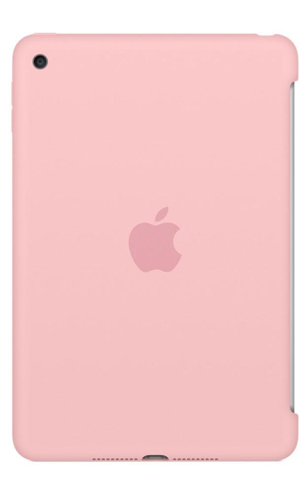 Apple Silicone Case чехол для iPad mini 4, PinkMLD52ZM/AСиликоновый чехол защищает заднюю поверхность iPad mini 4 и идеально совместим со Smart Cover, чтобы ваше устройство было в безопасности с обеих сторон. Чехол с гладкой силиконовой поверхностью очень приятен на ощупь и надёжно оберегает iPad mini 4, сохраняя его корпус таким же тонким и изящным.