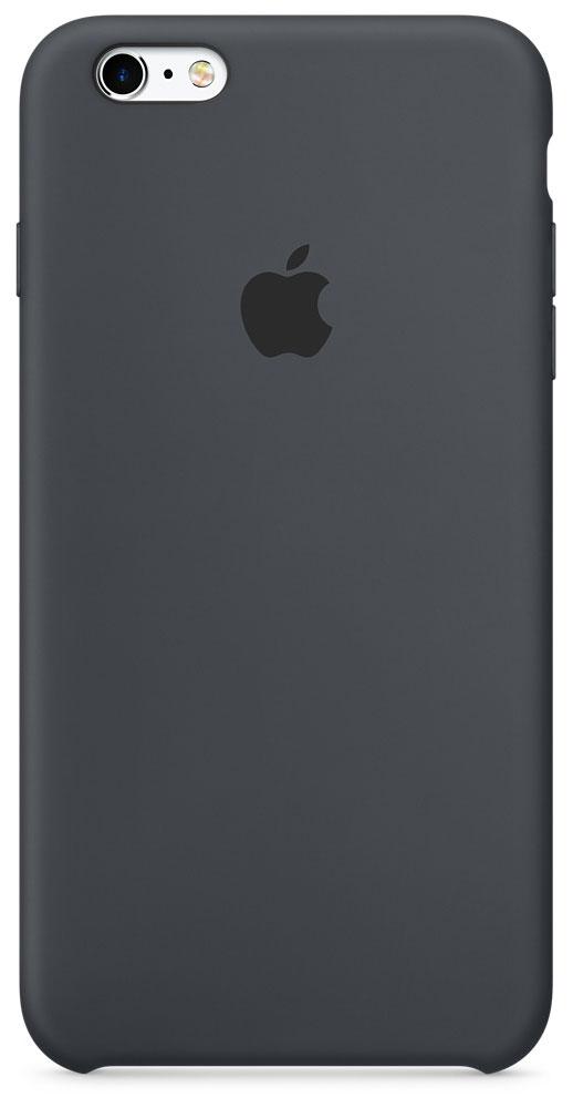 Apple Silicone Case чехол для iPhone 6s Plus, Charcoal GrayMKXJ2ZM/AApple Silicone Case плотно прилегает к кнопкам управления громкостью и режима сна. Он точно повторяет контуры iPhone 6s Plus и iPhone 6 Plus, поэтому телефон не выглядит громоздким. Мягкая внутренняя поверхность чехла, выполненная из микроволокна, защитит корпус вашего iPhone. А внешняя поверхность с шелковистой силиконовой отделкой очень приятна на ощупь.