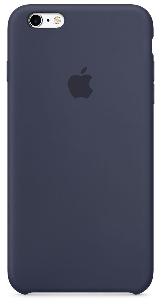 Apple Silicone Case чехол для iPhone 6s Plus, Midnight BlueMKXL2ZM/AApple Silicone Case плотно прилегает к кнопкам управления громкостью и режима сна. Он точно повторяет контуры iPhone 6s Plus и iPhone 6 Plus, поэтому телефон не выглядит громоздким. Мягкая внутренняя поверхность чехла, выполненная из микроволокна, защитит корпус вашего iPhone. А внешняя поверхность с шелковистой силиконовой отделкой очень приятна на ощупь.