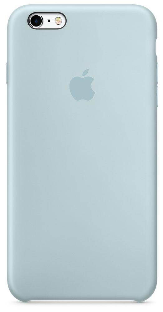Apple Silicone Case чехол для iPhone 6s Plus, TurquiseMLD12ZM/AApple Silicone Case плотно прилегает к кнопкам управления громкостью и режима сна. Он точно повторяет контуры iPhone 6s Plus и iPhone 6 Plus, поэтому телефон не выглядит громоздким. Мягкая внутренняя поверхность чехла, выполненная из микроволокна, защитит корпус вашего iPhone. А внешняя поверхность с шелковистой силиконовой отделкой очень приятна на ощупь.