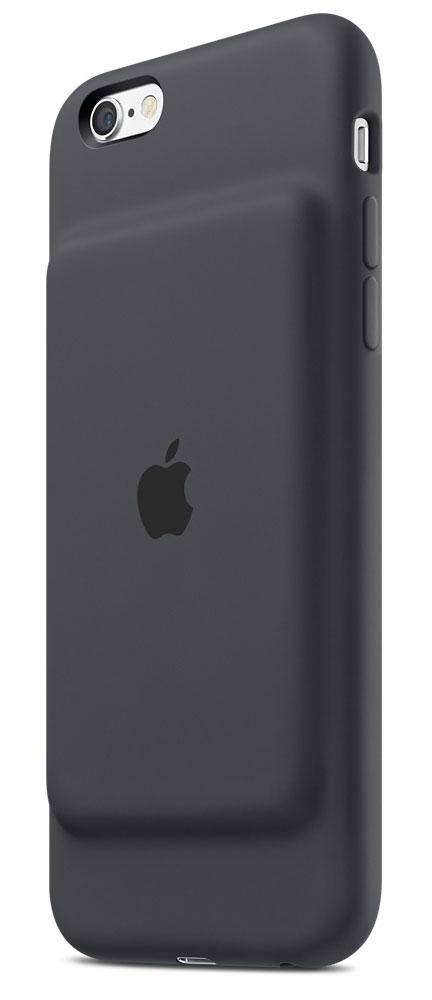 Apple Smart Battery Case чехол-аккумулятор для iPhone 6s, Charcoal GrayMGQL2ZM/AЧехол Apple Smart Battery Case разработан специально для увеличения заряда аккумулятора и защиты iPhone 6s и iPhone 6. Мягкая подкладка из микроволокна защищает корпус вашего iPhone, а благодаря шарнирной конструкции из эластомерного материала чехол легко снимать и надевать. Внешняя силиконовая поверхность чехла очень приятна на ощупь. Заряжайте свой iPhone и чехол с аккумулятором одновременно. Вы получите возможность до 25 часов говорить по телефону, до 18 часов работать в интернете через LTE, ещё дольше слушать музыку и смотреть видео. Когда iPhone находится в чехле Smart Battery Case, на экране блокировки и в Центре уведомлений отображается индикатор аккумулятора с точными данными об остатке заряда. Чехол с аккумулятором поддерживает аксессуары с разъёмом Lightning, например кабель Lightning/USB (входит в комплект поставки iPhone). Его также можно использовать с док-станцией для iPhone с разъемом Lightning (продается отдельно). Выберите один из...