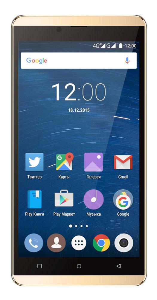 Highscreen Bay, Gold23036Highscreen Bay - смартфон с изысканным дизайном и толщиной всего 7.2 мм. Благодаря улучшенной эргономике смартфоном удобно пользоваться одной рукой. Диагональ 5,5 дюймов - оптимальный формат для тех, кто хочет смартфон и планшет в одном решении. Яркий AMOLED-экран с HD-разрешением способен отображать мельчайшие детали, он даст возможность в полной мере насладиться играми, просмотром видео и веб-сёрфингом. Фазовый автофокус обеспечивает мгновенную (0.1 с) и точную фокусировку. Светочувствительность выше на 30% по сравнению с обычными BSI-сенсорами. Улучшенная цветопередача даже в условиях недостаточной освещенности. Создавайте удивительные снимки и видео. Данная модель может похвастаться продвинутыми музыкальными возможностями, встроенный эквалайзер с поддержкой технологии DTS позволит насладиться качественным звучанием ваших любимых треков. Теперь не надо искать какой стороной вставить провод для зарядки и синхронизации. USB...